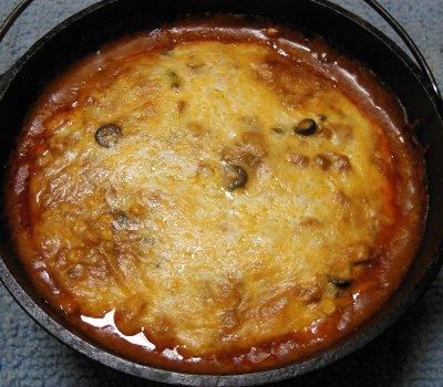 dutch oven chicken enchilada pie recipe