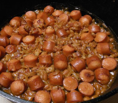 dutch oven fancy franks and beans recipe
