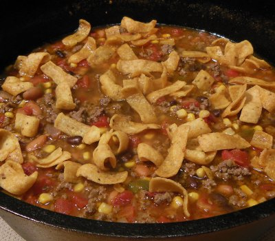 dutch oven taco soup recipe