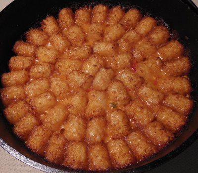 dutch oven taco tots recipe